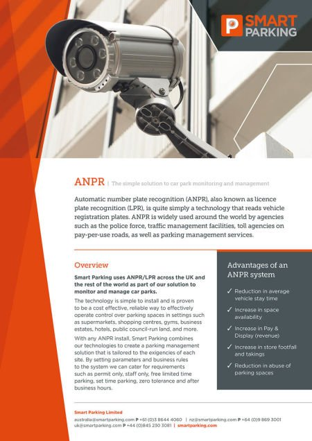 Download our ANPR solutions brochure